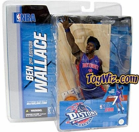 McFarlane Toys NBA Sports Picks Series 7 Action Figure Ben Wallace (Detroit Pistons) Blue Jersey with Afro BLOWOUT SALE!
