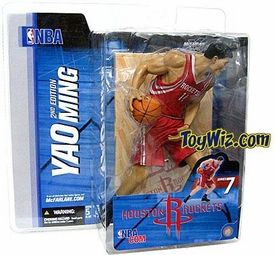 McFarlane Toys NBA Sports Picks Series 7 Action Figure Yao Ming  (Houston Rockets) Red Jersey