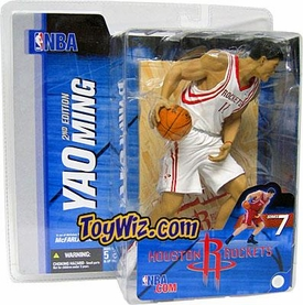 McFarlane Toys NBA Sports Picks Series 7 Action Figure Yao Ming (Houston Rockets) White Jersey Variant