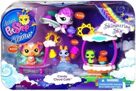 Littlest Pet Shop Fairies Shimmering Sky 4-Pack Candy Cloud Cafe