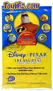 Disney & Pixar Treasures Featuring The Incredibles Movie Trading Cards Pack
