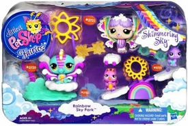 Littlest Pet Shop Fairies Shimmering Sky 4-Pack Rainbow Sky Park