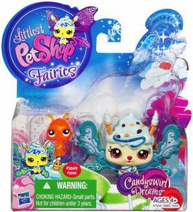 Littlest Pet Shop Fairies 2-Pack Candyswirl Dream Ice Cream Sprinkle & Ant