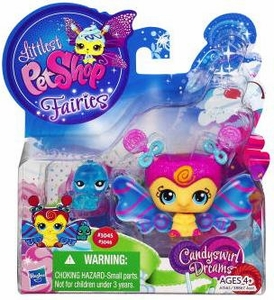 Littlest Pet Shop Fairies 2-Pack Candyswirl Dream Lolipop Fairy & Inchworm