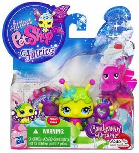 Littlest Pet Shop Fairies 2-Pack Candyswirl Dream Fruity Sweet Fairy & Snail