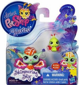 Littlest Pet Shop Enchanted Fairies Shimmering Sky 2-Pack Sunscape Fairy & Ladybug