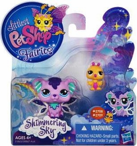 Littlest Pet Shop Enchanted Fairies Shimmering Sky 2-Pack Sprinkle Fog Fairy & Humming Bird