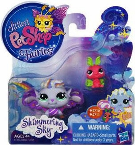 Littlest Pet Shop Enchanted Fairies Shimmering Sky 2-Pack Morning Haze Fairy & Luna Moth