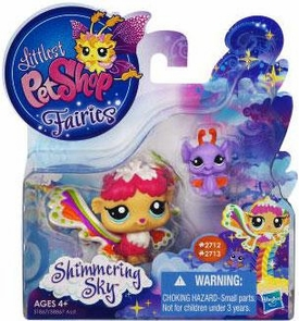 Littlest Pet Shop Enchanted Fairies Shimmering Sky 2-Pack Rain Prism Fairy & Bat