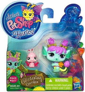 Littlest Pet Shop Enchanted Fairies Glistening Garden 2-Pack Tulip Fairy with Lady Bug