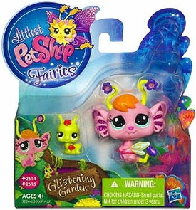 Littlest Pet Shop Enchanted Fairies Glistening Garden 2-Pack Pansy Fairy with Grasshopper