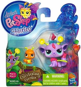 Littlest Pet Shop Enchanted Fairies Glistening Garden 2-Pack Daisy Fairy with Ant