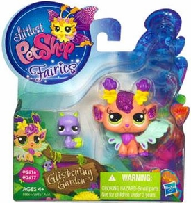 Littlest Pet Shop Enchanted Fairies Glistening Garden 2-Pack Honeysuckle Fairy with Snail