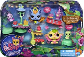 Littlest Pet Shop Enchanted Fairies Glistening Garden Playset Moonlit Meadow [Blue Bell & Apple Bloom]