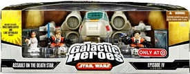 Star Wars Galactic Heroes Deluxe Cinema Scene Mini Figure Multi Pack Assault On The Death Star