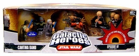 Star Wars Galactic Heroes Deluxe Cinema Scene Mini Figure Multi Pack Cantina Band