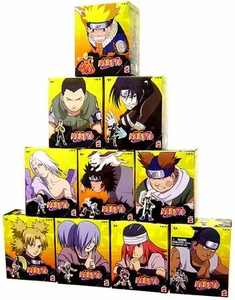 Naruto Mattel Tree Diorama Series 1 Set of 10 Mini 3 Inch PVC Figures