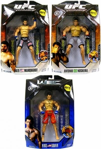 UFC Jakks Pacific Series 2 Set of 3 Deluxe Action Figures [Antonio Noguiera, Nate Marquardt & Mike Brown]