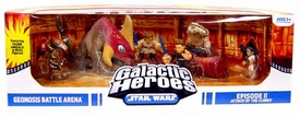 Star Wars Galactic Heroes Deluxe Cinema Scene Mini Figure Multi Pack Geonosis Battle Arena
