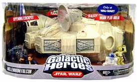 Star Wars Galactic Heroes Exclusive Mini Figure Deluxe Playset Millennium Falcon
