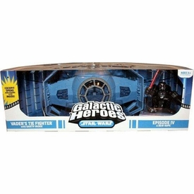 Star Wars Galactic Heroes Deluxe Cinema Scene Mini Figure Multi Pack Vader's Tie Fighter