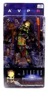 Alien VS. Predator: Requiem NECA Action Figure Series 4 Battle Damaged Unmasked Predator
