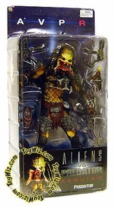 Alien VS. Predator: Requiem NECA Action Figure Series 3 Unmasked Predator [Open Mouth]