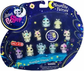 Littlest Pet Shop Moonlite Fairies Exclusive 10-Pack Moonglow Friends