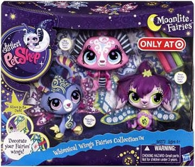 Littlest Pet Shop Moonlite Fairies Exclusive 3-Pack Whimsical Wings Fairies Collection [Moonglow, Star Twinkle, Moon Twinkle]