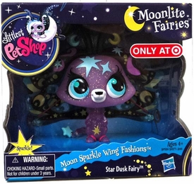 Littlest Pet Shop Moonlite Fairies Exclusive Moonglow Wing Fashions Star Dusk Fairy
