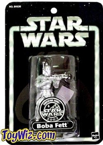 Star Wars Saga 2003 Mexican Convention Exclusive Silver Boba Fett