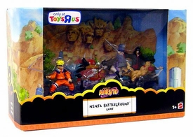 Naruto Mattel 6 Piece 3 Inch Mini PVC Figure Box Set Ninja Battleground Game
