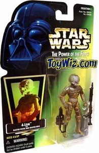 Star Wars Power of the Force Hologram Card Action Figure 4-Lom [Blaster Pistol & Blaster Rifle]