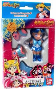 Bandai Sailor Moon Pachi Pachi Cute 3.5 Inch Figure Sailor Mercury [Ami Mizuno]