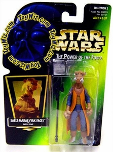 Star Wars POTF2 Power of the Force Hologram Card Saelt-Marae (Yak Face) with Battle Staff