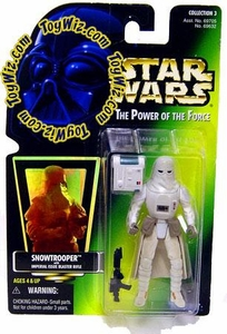 Star Wars POTF2 Power of the Force Hologram Card Snowtrooper with Imperial Issue Blaster Rifle