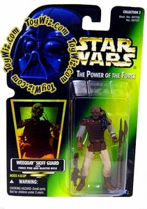 Star Wars Power of the Force Hologram Card Weequay Skiff Guard with Force Pike and Blaster Rifle