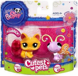 Littlest Pet Shop Cutest Pets Figures Long Haired Cat & Butterfly