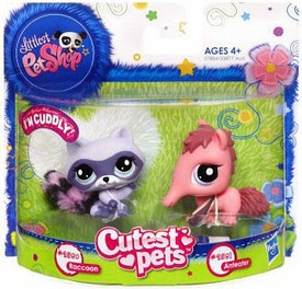 Littlest Pet Shop Cutest Pets Figures Raccoon & Ant Eater
