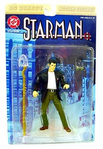 DC Direct Action Figure Modern Age Starman Damaged Package, Mint Contents!