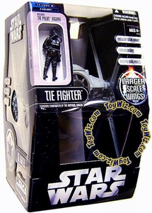 Star Wars Saga '06 Exclusive Vehicle TIE Fighter [Larger Scale Wings Variant Gray Color] with Tie Pilot Action Figure