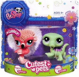 Littlest Pet Shop Cutest Pets Figures Flamingo & Crocodile