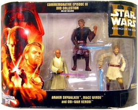 Star Wars Commemorative Episode III DVD Collection 3-Pack Anakin Skywalker, Mace Windu & Obi-Wan Kenobi