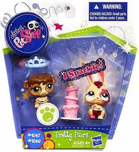 Littlest Pet Shop I Sparkle Pretty Pair Figures Bunny & Guinea Pig