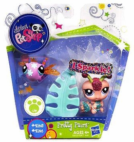 Littlest Pet Shop I Sparkle Pretty Pair Figures Dragonfly & Centipede