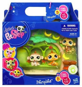 Littlest Pet Shop Petriplets 3-Pack Monkeys