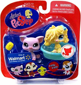Littlest Pet Shop Exclusive Pet Pairs Figures Sheep Dog & Pig