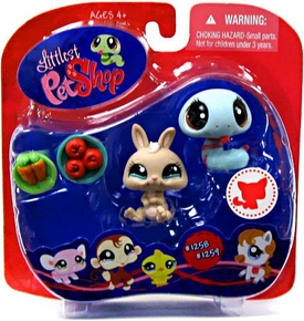 Littlest Pet Shop Exclusive Pet Pairs Figures Bunny Rabbit & Blue Snake