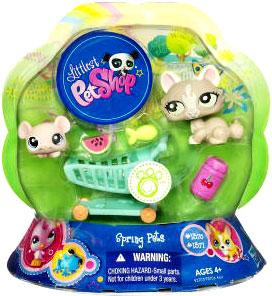 Littlest Pet Shop Spring Pets Pair Cat & Mouse
