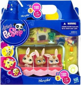 Littlest Pet Shop Petriplets 3-Pack Bunnies